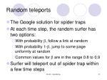 random teleports