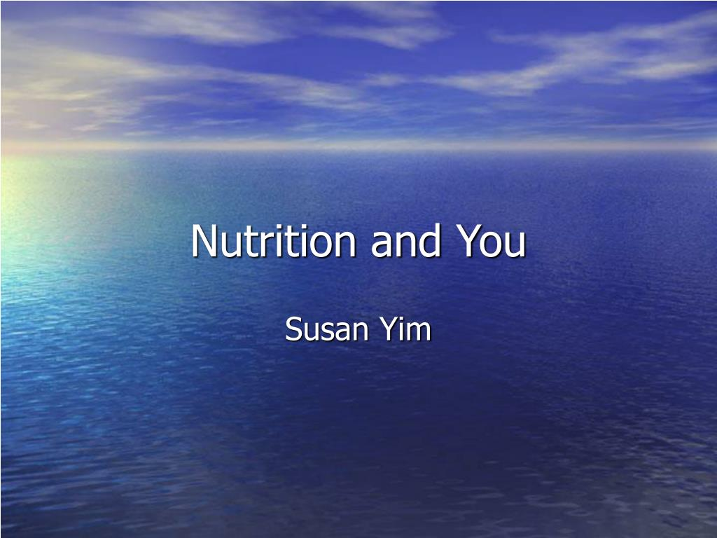 nutrition and you l.