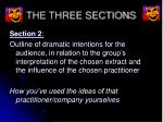 the three sections5