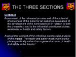the three sections6
