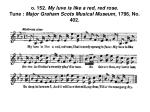 o 152 my luve is like a red red rose tune major graham scots musical museum 1796 no 402