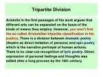 tripartite division