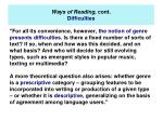 ways of reading cont difficulties