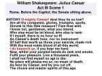 william shakespeare julius caesar act iii scene 1 rome before the capitol the senate sitting above