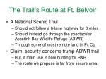 the trail s route at ft belvoir