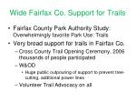 wide fairfax co support for trails
