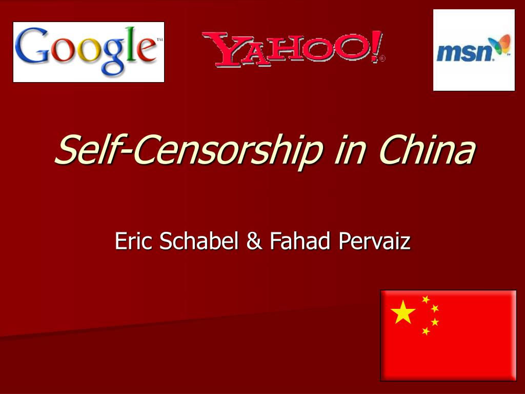 self censorship in china l.