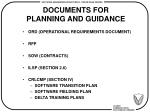 documents for planning and guidance