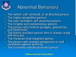 abnormal behaviors