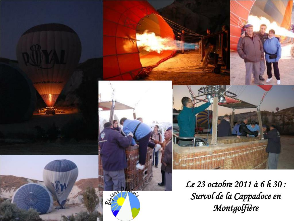 le 23 octobre 2011 6 h 30 survol de la cappadoce en montgolfi re l.