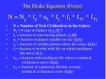 the drake equation fermi