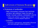 subversion of immune response39