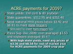 acre payments for 2009