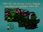 aph crc ra average county program loss ratios for soybeans 1995 2007