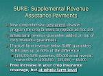 sure supplemental revenue assistance payments