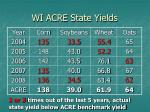 wi acre state yields
