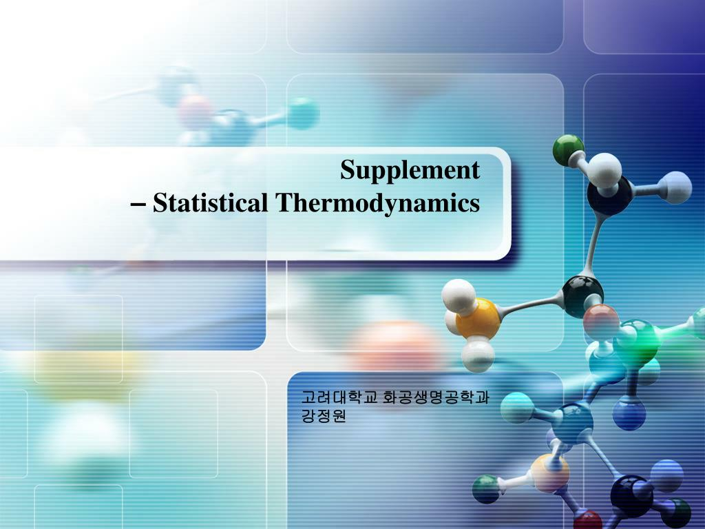 supplement statistical thermodynamics l.
