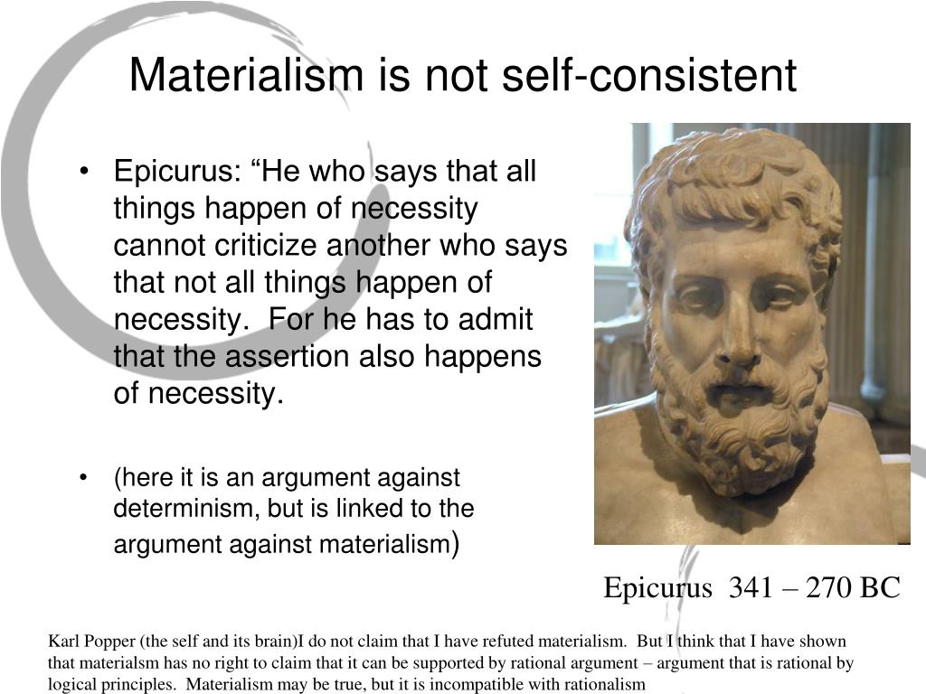 Materialism is not self-consistent