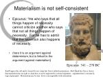 materialism is not self consistent33