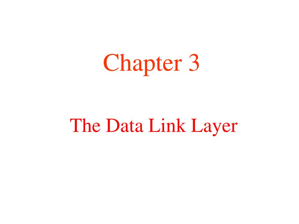 the data link layer l.