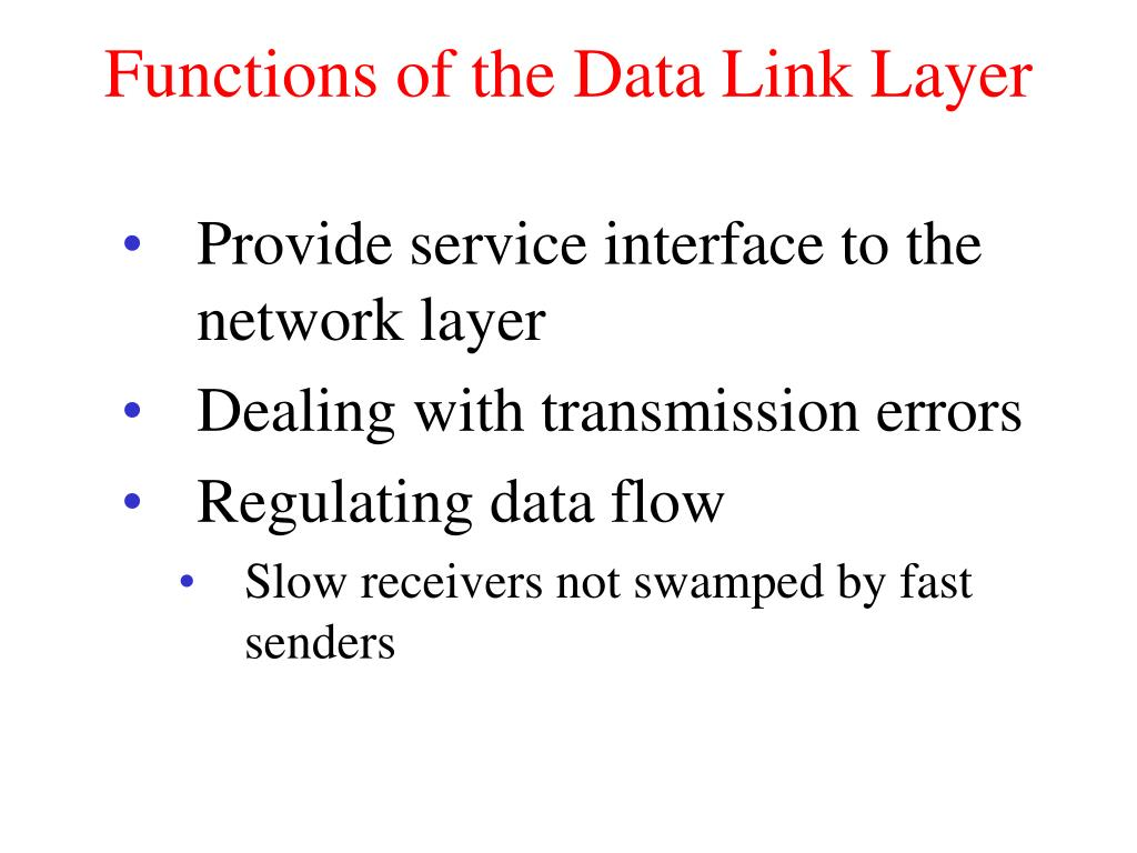 functions of the data link layer l.