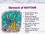 element of rhythm
