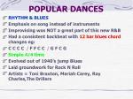 popular dances