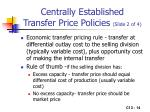 centrally established transfer price policies slide 2 of 4