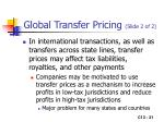 global transfer pricing slide 2 of 2