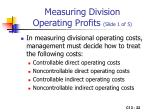 measuring division operating profits slide 1 of 5