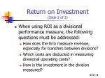 return on investment slide 2 of 2
