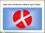 paper use in us books in 2009 by type of paper