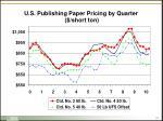 u s publishing paper pricing by quarter short ton