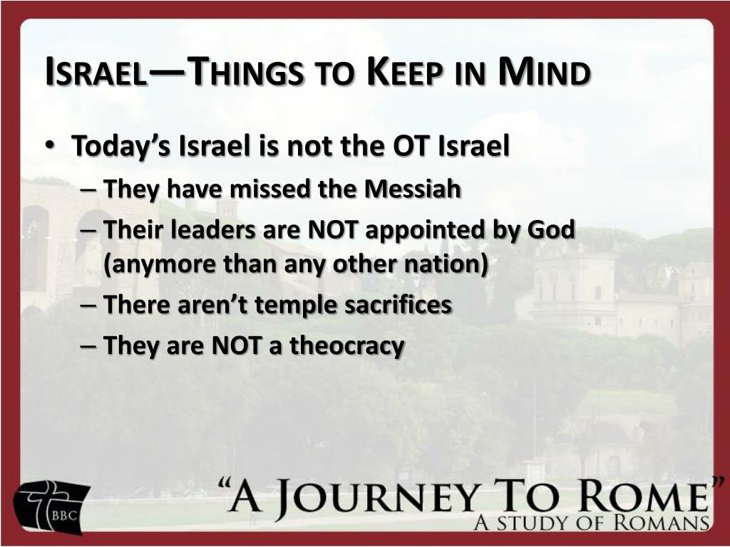 israel things to keep in mind l.
