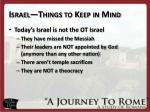 israel things to keep in mind