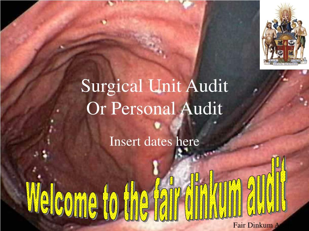 surgical unit audit or personal audit l.