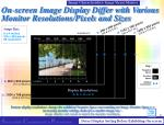 on screen image display differ with various monitor resolutions pixels and sizes