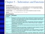 chapter 5 subroutines and functions36