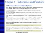 chapter 5 subroutines and functions57