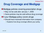 drug coverage and medigap