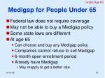 medigap for people under 65