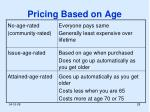pricing based on age