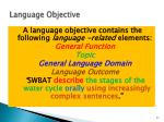 language objective91