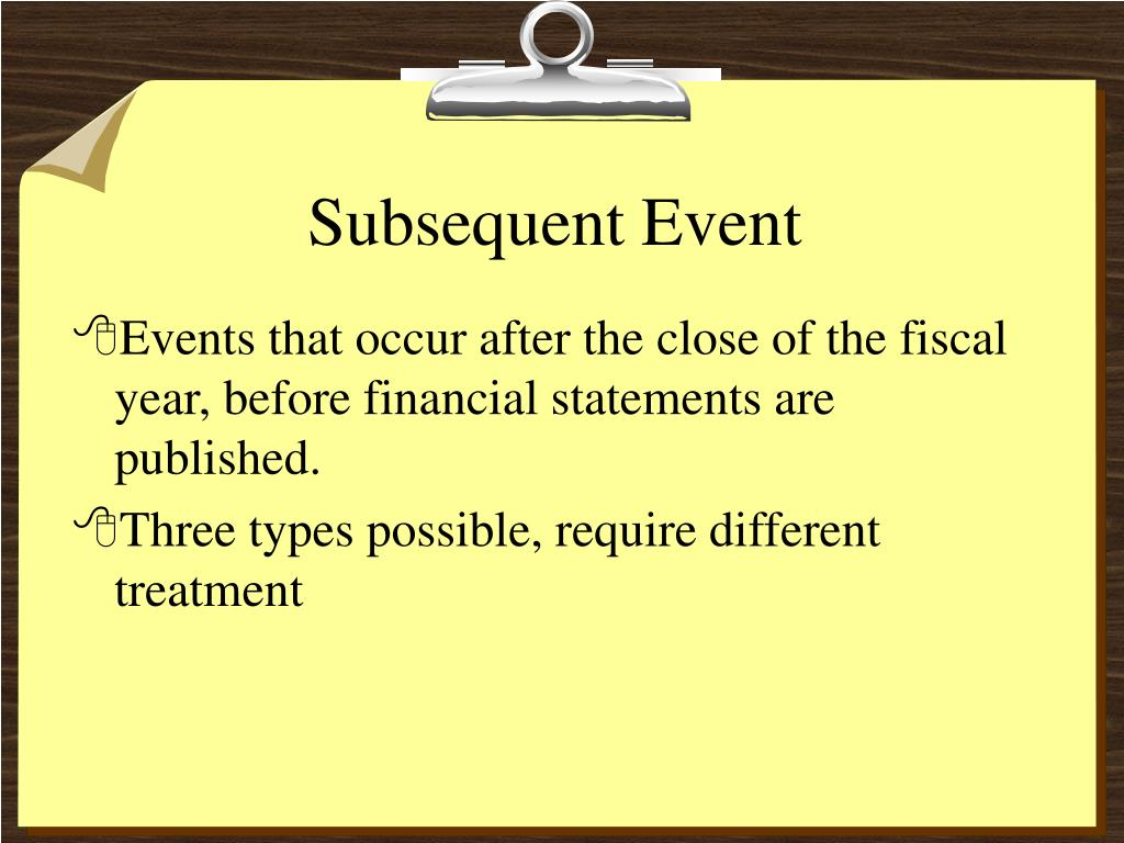 subsequent event l.