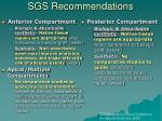 sgs recommendations