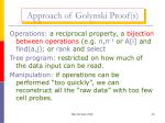 approach of golynski proof s