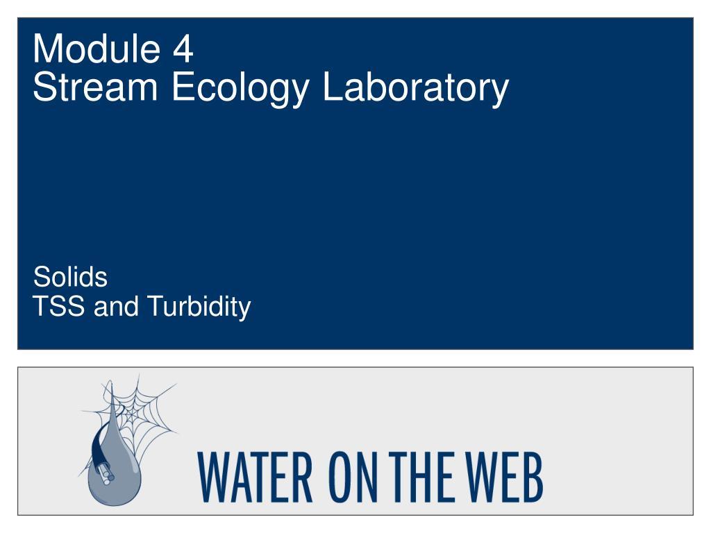 module 4 stream ecology laboratory l.