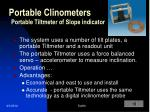portable clinometers portable tiltmeter of slope indicator