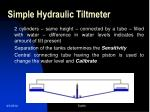 simple hydraulic tiltmeter