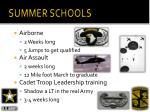 summer schools